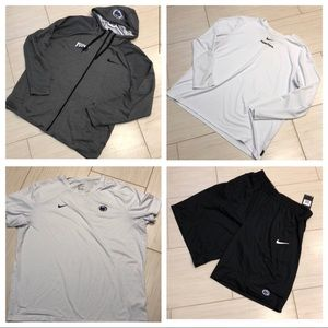 NIKE PSU zip up hoodie, shorts, and two tshirts